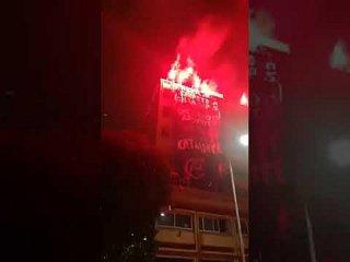 [Grèce] Des anarchistes éclairent la nuit en solidarité avec les squats attaqués en Grèce